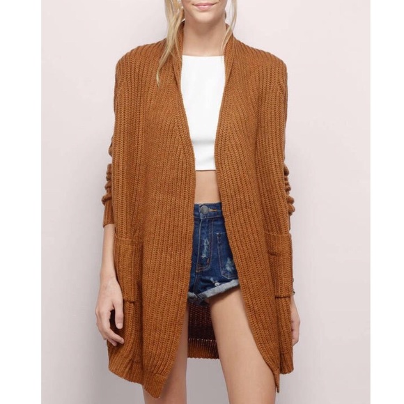 c28c9751a64 Tobi Snuggly Mornings Rust Cardigan Sweater Large.  M 5be23dbc1b32943514929523